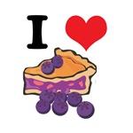 I Heart (Love) Blueberry Pie