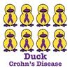 Crohn's Disease Awareness Ribbon Ducks