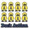 Autism Awareness Puzzle Ribbon Ducks