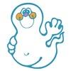 Cute Waving Ghost