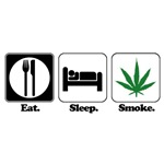Eat. Sleep. Smoke. (Pot)
