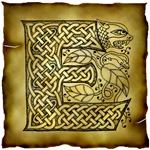 Celtic Knotwork Letter E
