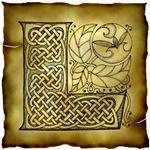 Celtic Knotwork Letter L