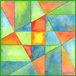 Color Square Abstract One