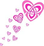 Pink Celtic Hearts