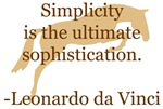 da Vinci simplicity- quote and jumper horse