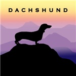 Dachshund Dog Purple Mountains