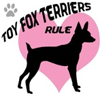 Toy Fox Terriers Rule w/ Pink Heart
