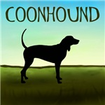Coonhound In A Field