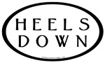 Heels Down Car Stickers