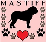 Mastiff Heart & Paws (pink)