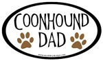 Coonhound Dad Oval