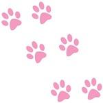 Pink Walk-On-Me Pawprints
