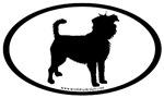 Affenpinscher Dog Breed Oval Stickers