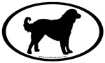 Akbash Dog Breed Oval Stickers