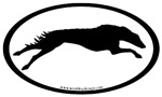 Borzoi (Russian Wolfhound) Oval Stickers