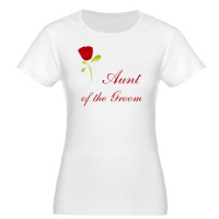 Wedding Party Red Rose Aunt of the Groom T Shirt