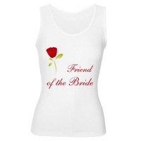 Wedding Party Red Rose Friend of the Bride T Shirt