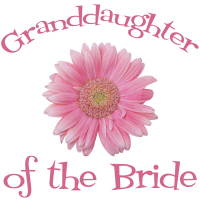 Bride's Granddaughter Daisy Pink Wedding Apparel