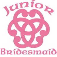 Celtic Knot Junior Bridesmaid Wedding Party Appare