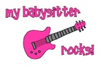 My Babysitter Rocks! pink guitar