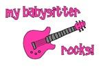 My Babysitter Rocks! pink guitar