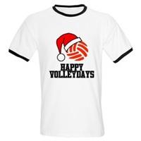 VolleyChick Happy Volleydays Santa Ball