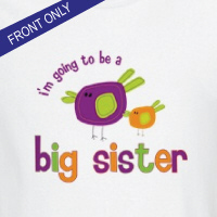 big sister to be birdie front only