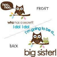 big sister to be owl secret shirt