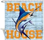 Beach House Shower Curtains