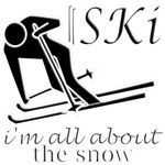 international Ski snow fun designs