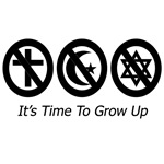 Anti-Religion T-shirts, Buttons, Stickers | It's Time to Grow Up!
