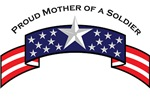Proud Mother of a Soldier, Stars & Stripes ©