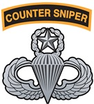Counter Sniper Tab over Master Airborne Wings