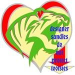 designer sandles roar