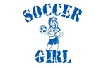 Soccer Girl Blue Style shirts