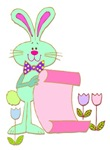 Easter Bunny with His List