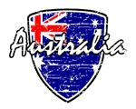 Australian distressed soccer design