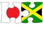 Japanese Jamaican Flag