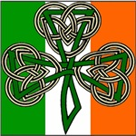 IRISH FLAG CELTIC CROSS SHAMROCK