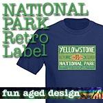 National Park T-Shirts: Retro Label NEW!