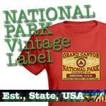 National Park T-Shirts: Vintage Label