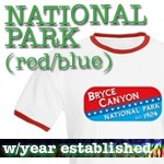 National Park T-Shirts: Red/Blue Logo