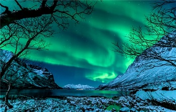 Glowing Green Auroras