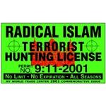 Radical Islam Terrorist Hunting Permit