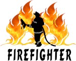 Firefighter Gifts and Apparel With Flames