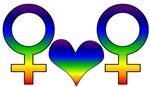 Lesbian Rainbow Symbol