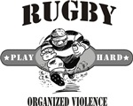 Rugby Organized Violence T-Shirts Gifts