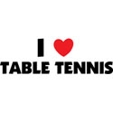 I Love Table Tennis T-Shirt & Gifts
