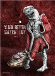 Zombie Santa Christmas cards